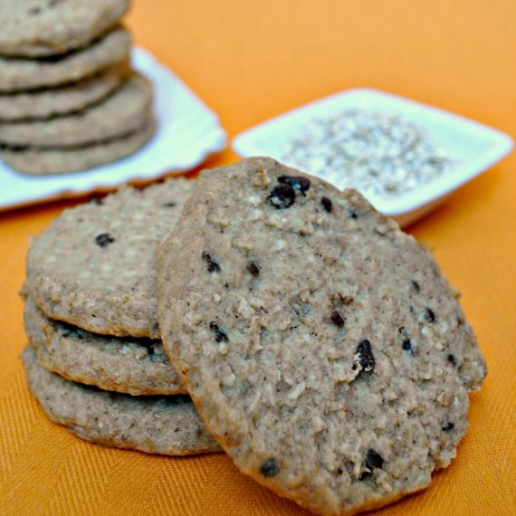 Biscotti integrali con crusca di avena e gocce di cioccolato