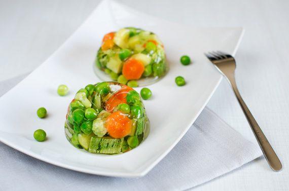 Aspic di verdure primaverili