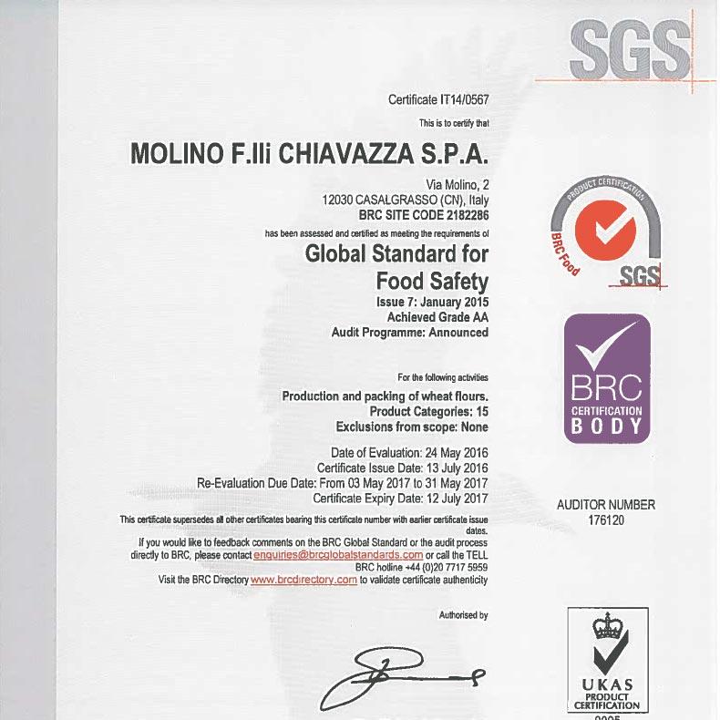 molino-flli-chiavazza-brc-certificate