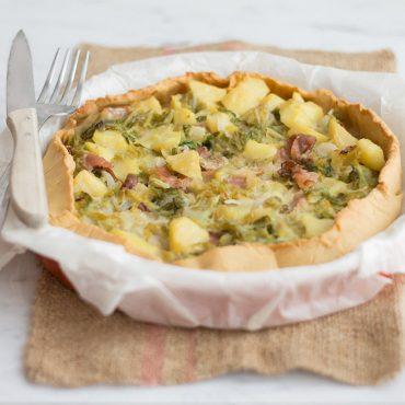 Torta salata gluten free con verza, patate e speck - Ricette di Molino Chiavazza