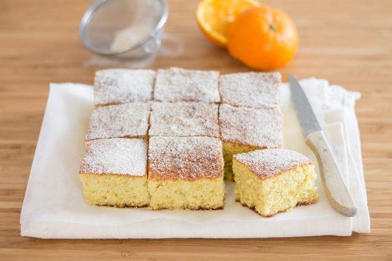 Torta soffice all'arancia e olio extravergine d'oliva