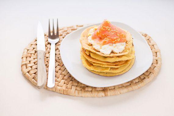 Pancake salati con farina di lenticchie