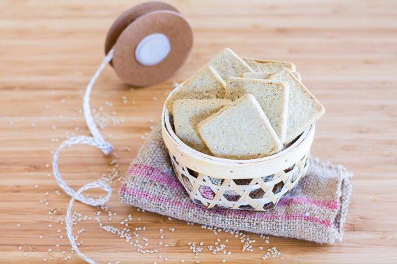 Crackers semintegrali al sesamo