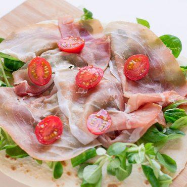 Piadina gluten free al prosciutto crudo - Molino Chiavazza