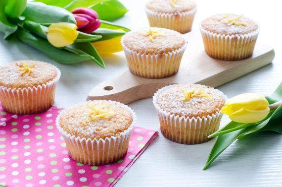 Muffin senza glutine con yogurt e limone