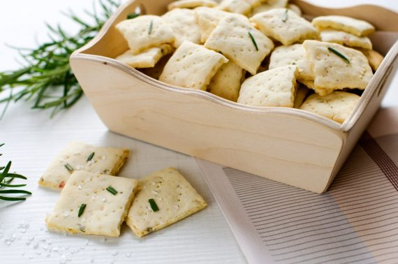 Crackers senza glutine al rosmarino