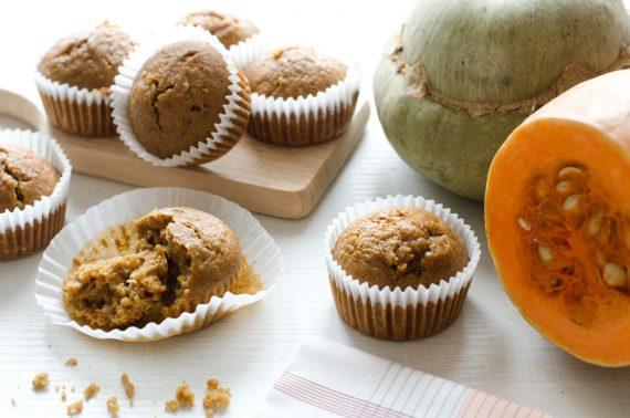 Muffin integrali alla zucca e cannella