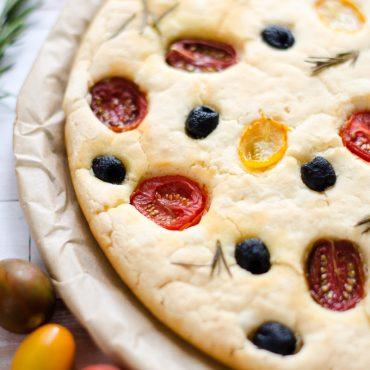 Focaccia Gluten Free Pomodorini e Olive