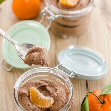 Mousse di cioccolato e clementine
